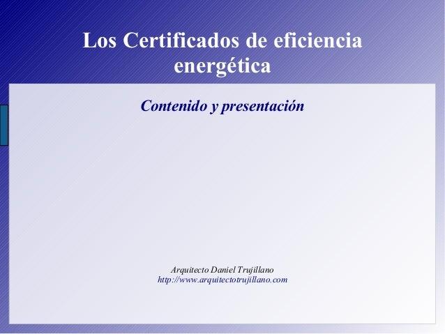 Los certificados de eficiencia energética