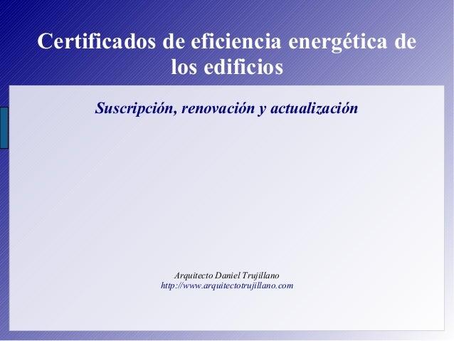 Certificados de eficiencia energética de los edificios