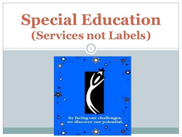 Special Education (Services not Labels) 1