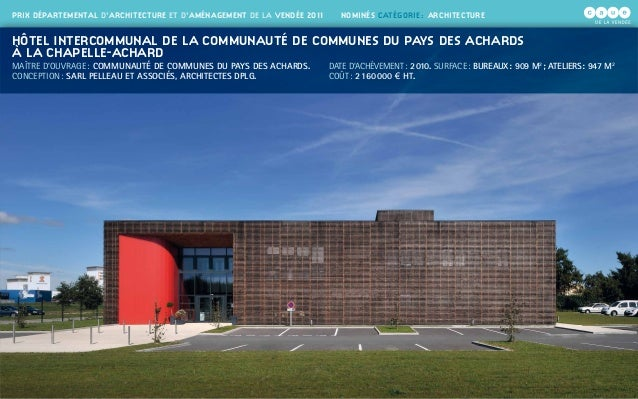 Prix d partemental d 39 architecture et d 39 am nagement de la for Prix architecte