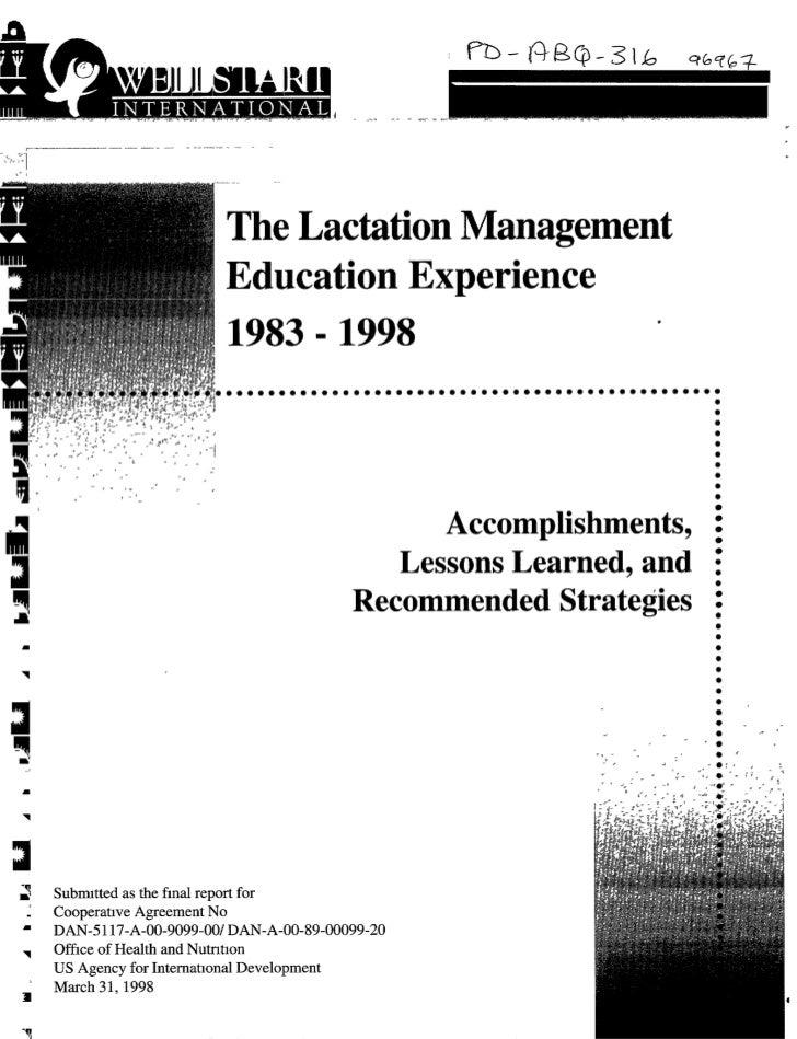 The Lactation Management                      Education Experience                                            Accomplishme...