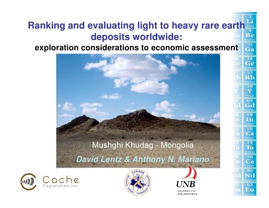 Ranking and evaluating light to heavy rare earth              deposits worldwide:  exploration considerations to economic ...