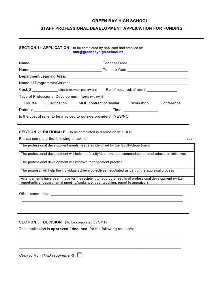 pd-application-form-1-728 Teacher Grant Example Forms on grant family, grant name, grant report,