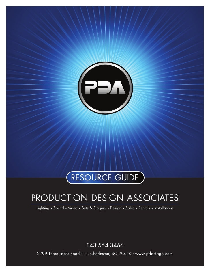 resource guide  production design associates  Lighting       sound       Video       sets & staging       design       sal...