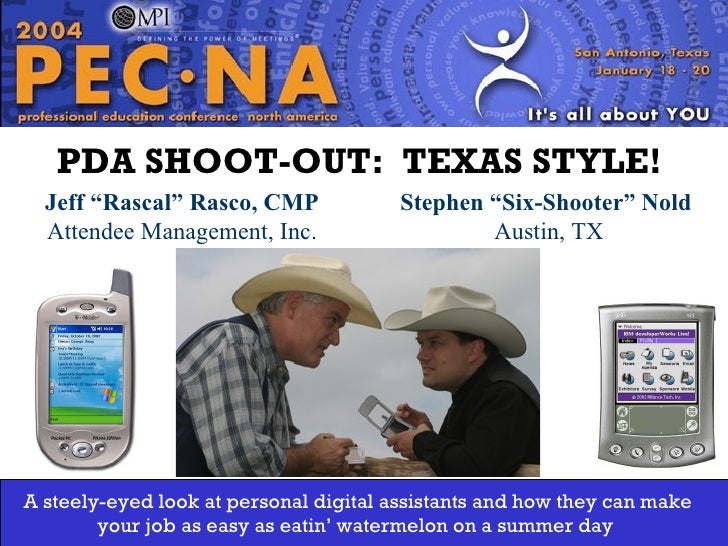 "Jeff ""Rascal"" Rasco, CMP Attendee Management, Inc. Washington State Chapter PDA SHOOT-OUT:  TEXAS STYLE!   Stephen ""Six-Sh..."