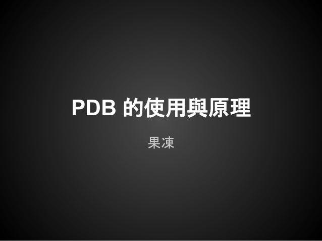 PDB 的使用與原理果凍