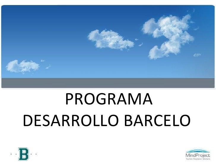 PROGRAMA DESARROLLO BARCELO