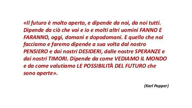 «Il futuro è molto aperto, e dipende da noi, da noi tutti. Dipende da ciò che voi e io e molti altri uomini FANNO E FARANN...