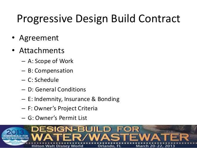 Developing Procurement Documents for Progressive Design