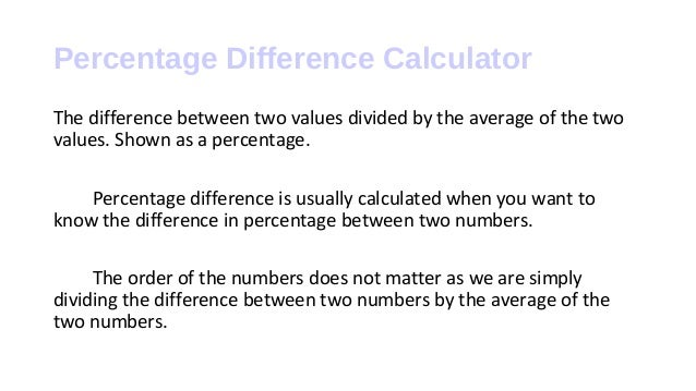 How to calculate percentage difference change percentage difference calculator know to calculate the difference between percentage formula tutorial 2 ccuart Choice Image