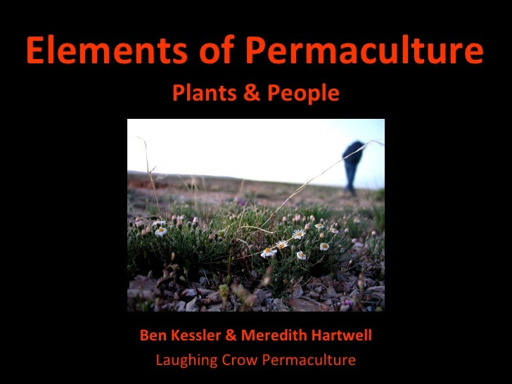 Elements of Permaculture <ul><li>Plants & People </li></ul>Ben Kessler & Meredith Hartwell Laughing Crow Permaculture