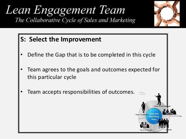 Within the actual cycle the sales team is empowered to make their own choices and determine their own direction to accompl...