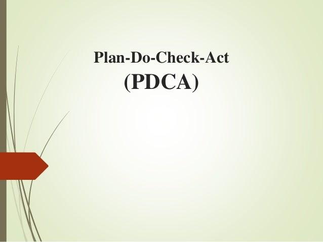 Plan-Do-Check-Act (PDCA)
