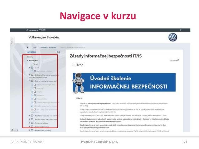 Navigace v kurzu 23PragoData Consulting, s.r.o.23. 5. 2016, EUNIS 2016