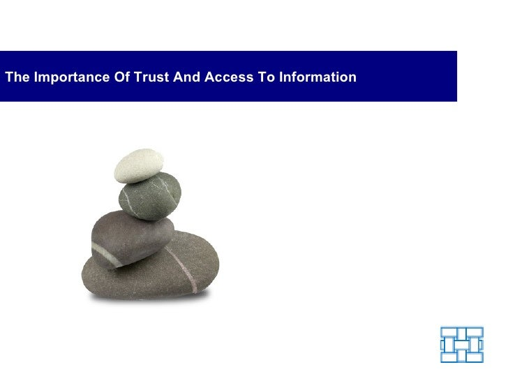 The Importance Of Trust And Access To Information
