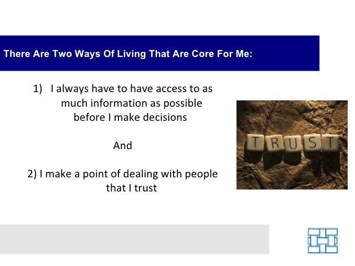 The Importance of Trust and Access to Information Slide 2