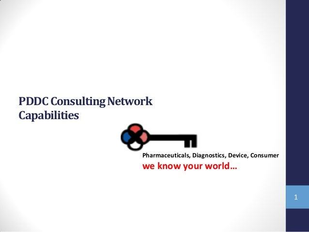 PDDC Consulting Network Capabilities  Pharmaceuticals, Diagnostics, Device, Consumer  we know your world… 1