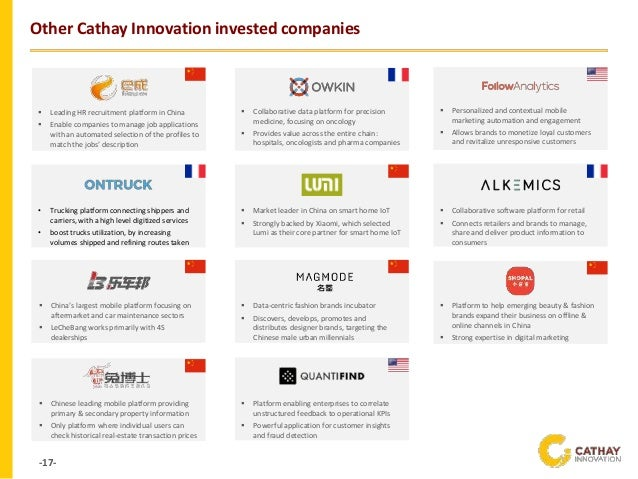 -17- Other Cathay Innovation invested companies ▪ Market leader in China on smart home IoT ▪ Strongly backed by Xiaomi, wh...
