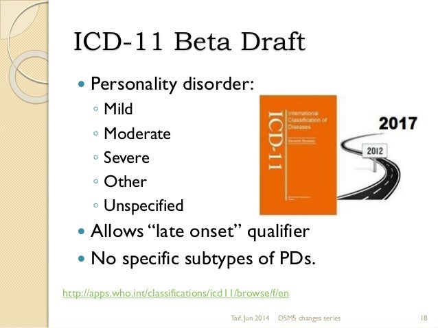 Personality disorders in DSM5