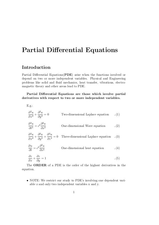 PARTIAL DIFFERENTIAL EQUATIONS EPUB