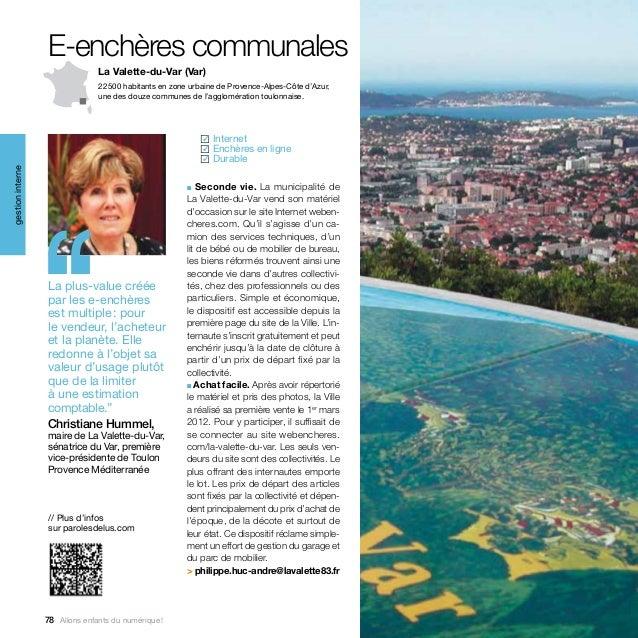 E-enchères communales                                La Valette-du-Var (Var)                                22500 habitan...