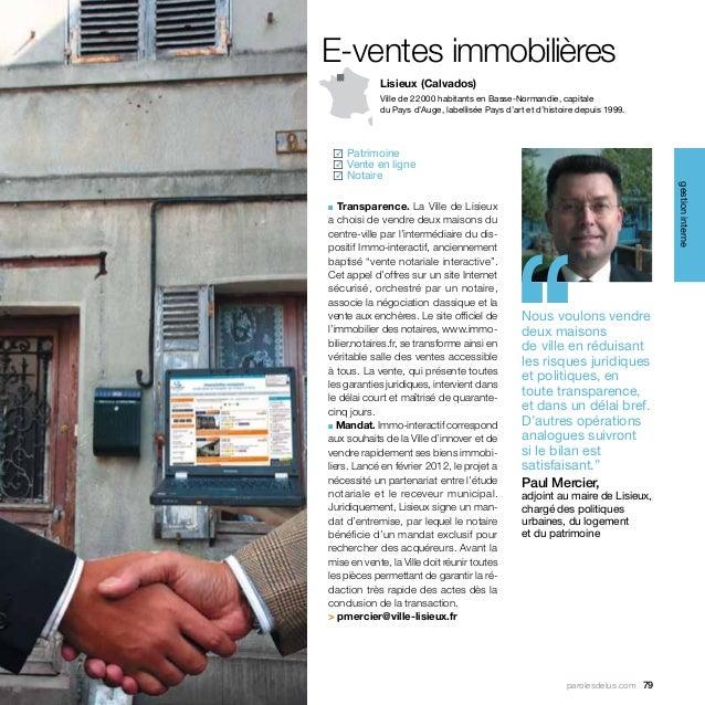 E-ventes immobilières            Lisieux (Calvados)            Ville de 22000 habitants en Basse-Normandie, capitale     ...