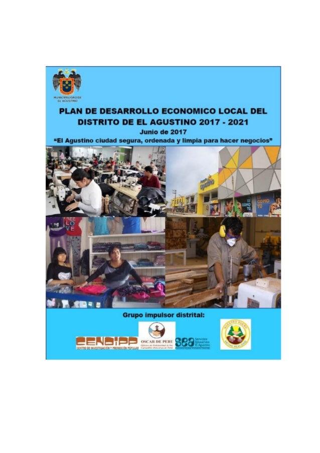 Plan de desarrollo económico local de El Agustino