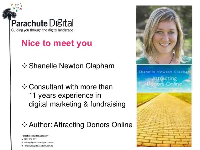 Nice to meet you Shanelle Newton Clapham Consultant with more than 11 years experience in digital marketing & fundraisin...