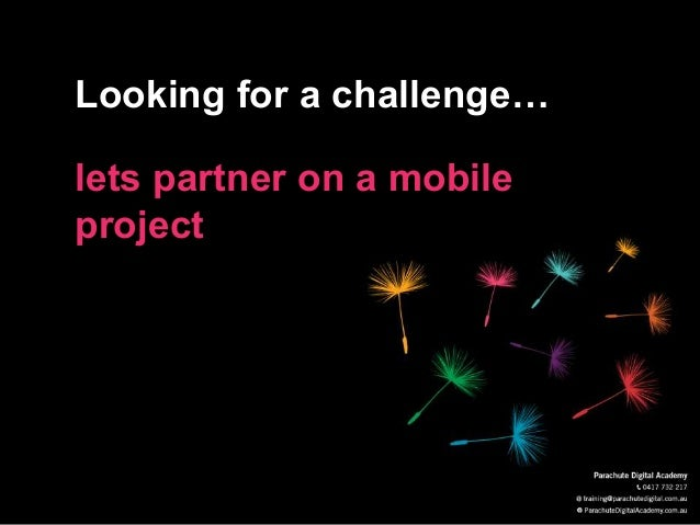 Looking for a challenge… lets partner on a mobile project