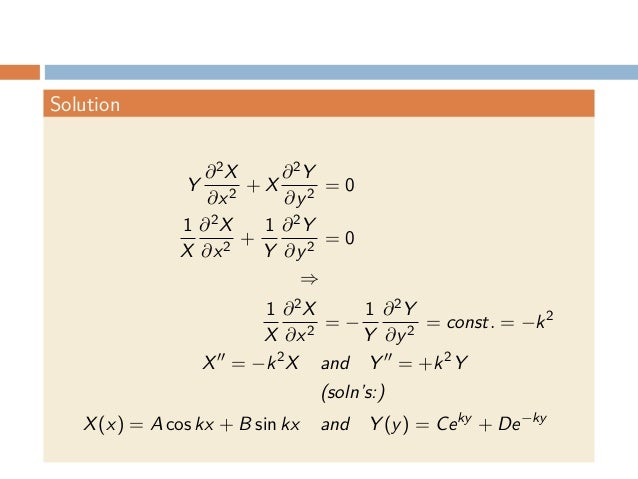 Partial Differential Equations 3 Simple Examples