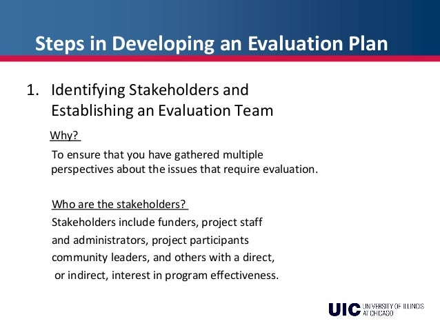 Pde Week  Developing An Evaluation Plan