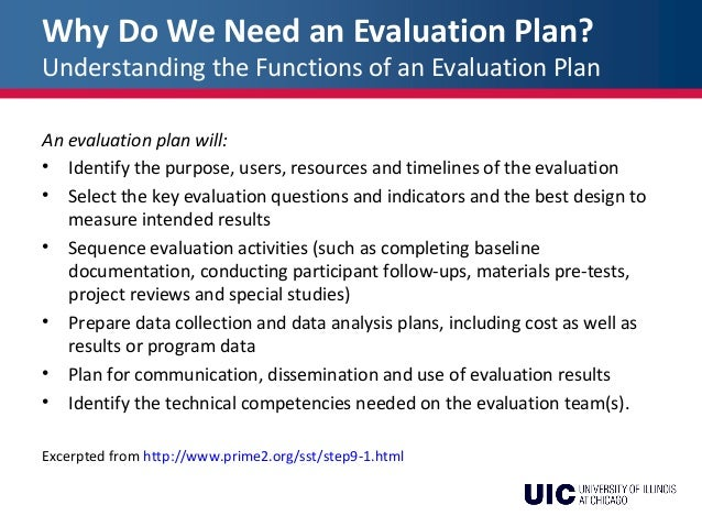 Pde Week 5: Developing An Evaluation Plan