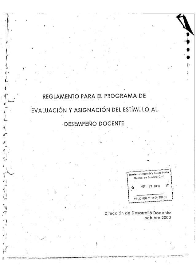 Reglamento programa desempeño docente