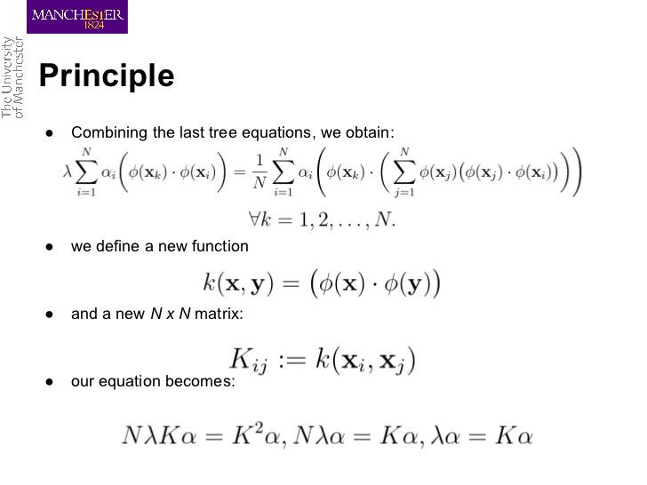Principle●   Combining the last tree equations, we obtain:●   we define a new function●   and a new N x N matrix:●   our e...