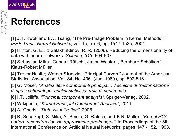 """References[1] J.T. Kwok and I.W. Tsang, """"The Pre-Image Problem in Kernel Methods,""""IEEE Trans. Neural Networks, vol. 15, no..."""