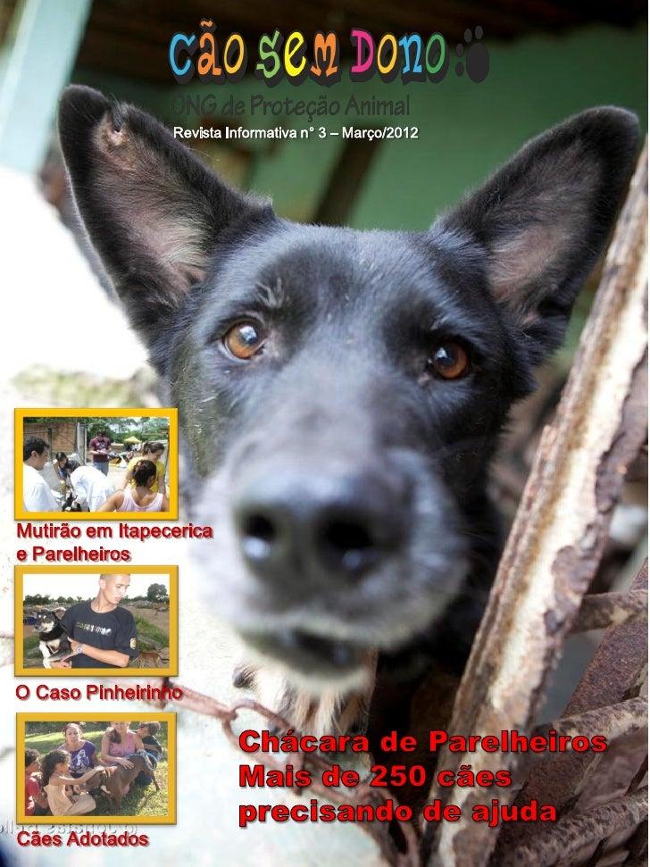 Revista Informativa n° 3 – Março/2012Mutirão em Itapecericae ParelheirosO Caso PinheirinhoCães Adotados