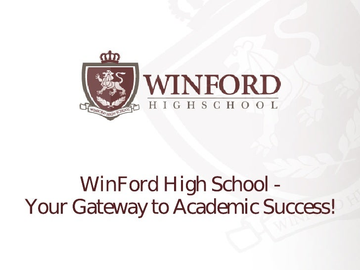 WinFord High School -Your Gateway to Academic Success!