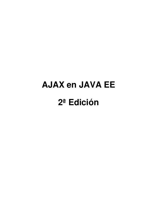AJAX en JAVA EE2ª Edición