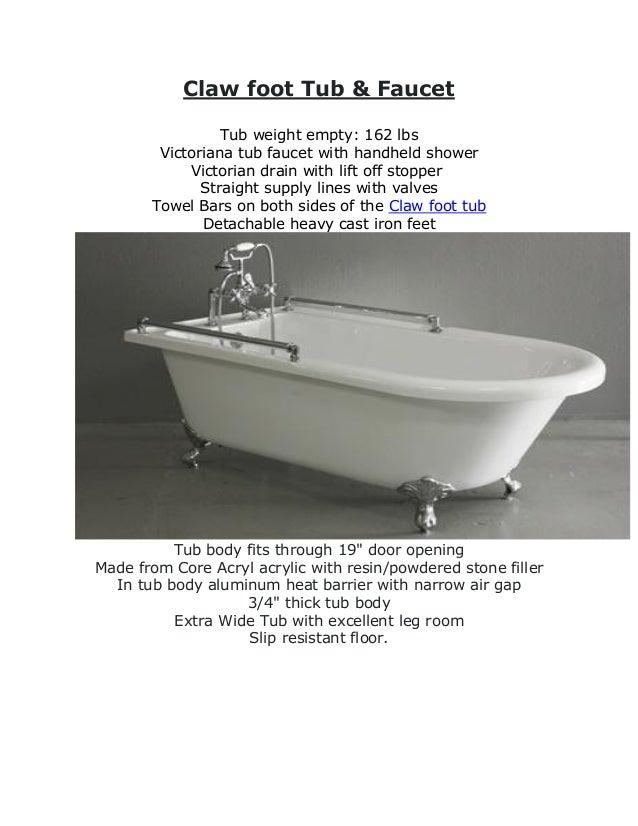 Baths of Distinction: Designer, Clawfoot Faucet & Air Jetted Bathtub\'…