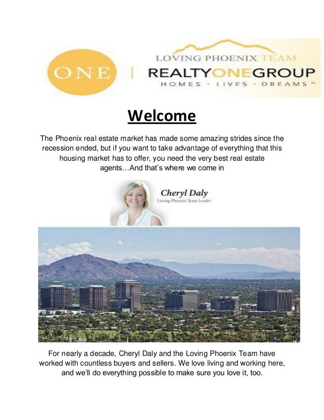 Welcome The Phoenix real estate market has made some amazing strides since the recession ended, but if you want to take ad...