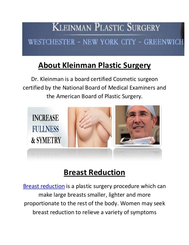 Breast reduction surgery new york