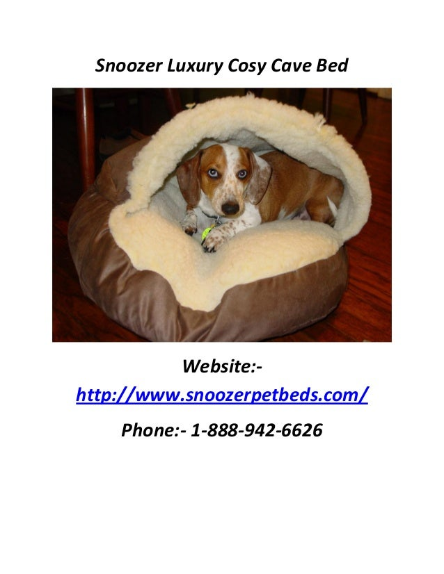 snoozer luxury cozy cave 3 - Cozy Cave Dog Bed