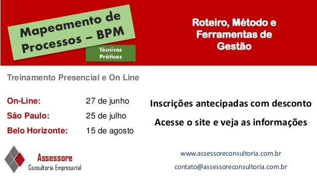 Técnicas Práticas Treinamento Presencial e On Line Assessore Consultoria Empresarial www.assessoreconsultoria.com.br conta...