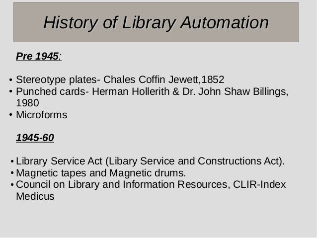 Library Automation in Circulation