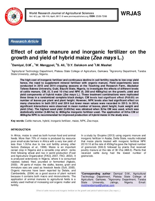 the effect of cow dung foliar Manure organic nutrient scented rice effect of (1/3n through each of enriched compost + cow dung =3/4 n through poultry manure +1/4 n vermiwash (foliar.