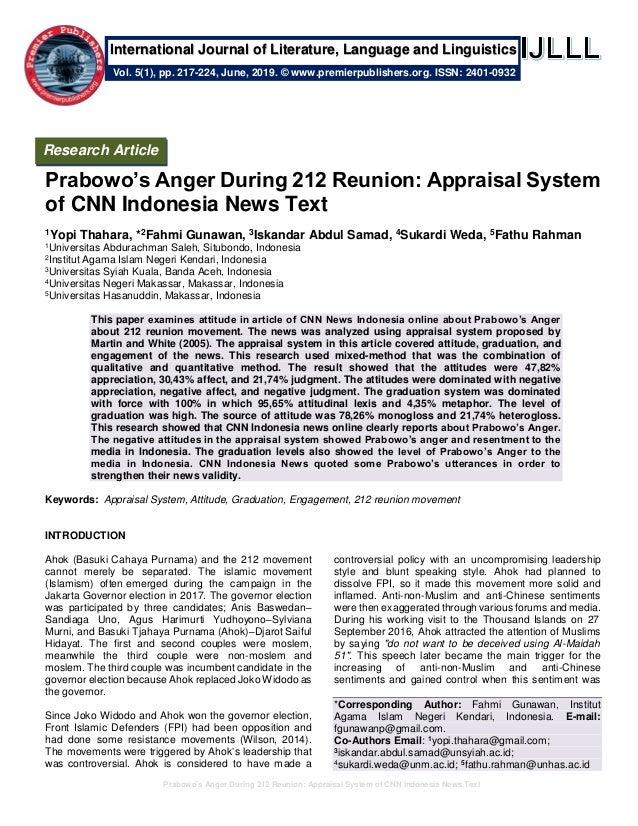 prabowo s anger during reunion appraisal system of cnn