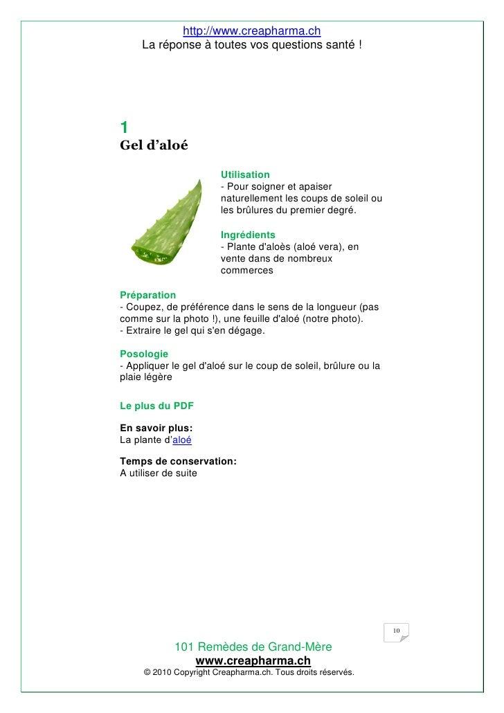Pdf 1a101 remede gd mere appercu version sept 2010 - Remede de grand mere contre les coups de soleil ...
