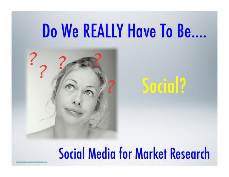 Social Media in Market Research (SO. CA QRCA)
