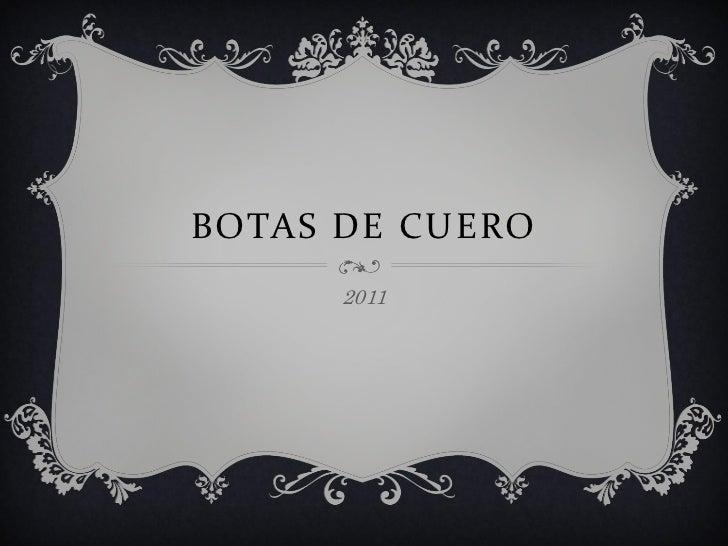 BOTAS DE CUERO      2011