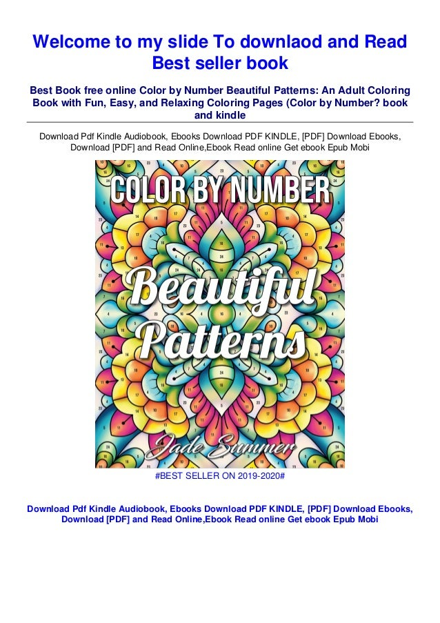 Pdf$@@ Color By Number Beautiful Patterns: An Adult Coloring Book Wit…